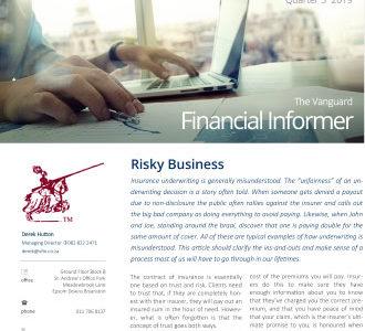Vanguard Financial Informer - Q3 2019