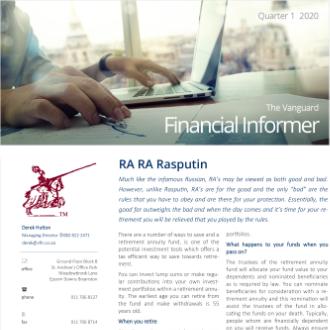 Vanguard Financial Informer - Q1 2020